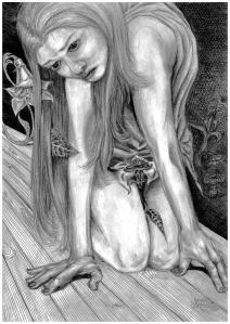 Alice, pencil, 2003