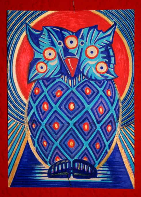 Psychedelic Totem Owl
