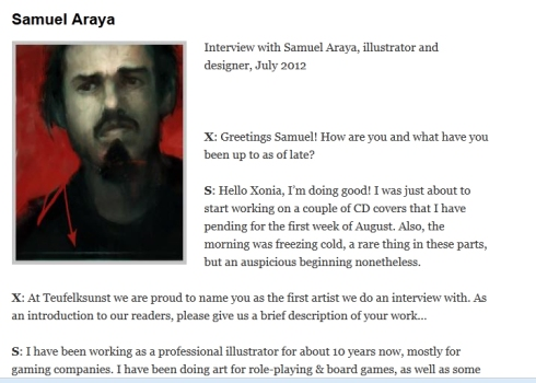 Sam Aaraya, Interview