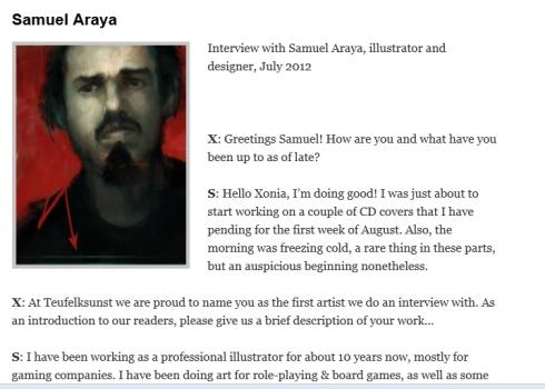 Sam Aaraya, Interview