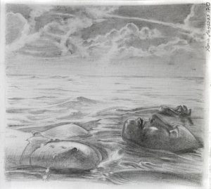 Drifting, pencil, 2012