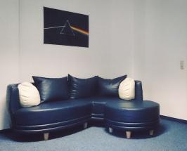 Blue sofa, 2016