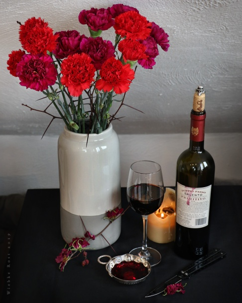 Still Life with Red Carnations